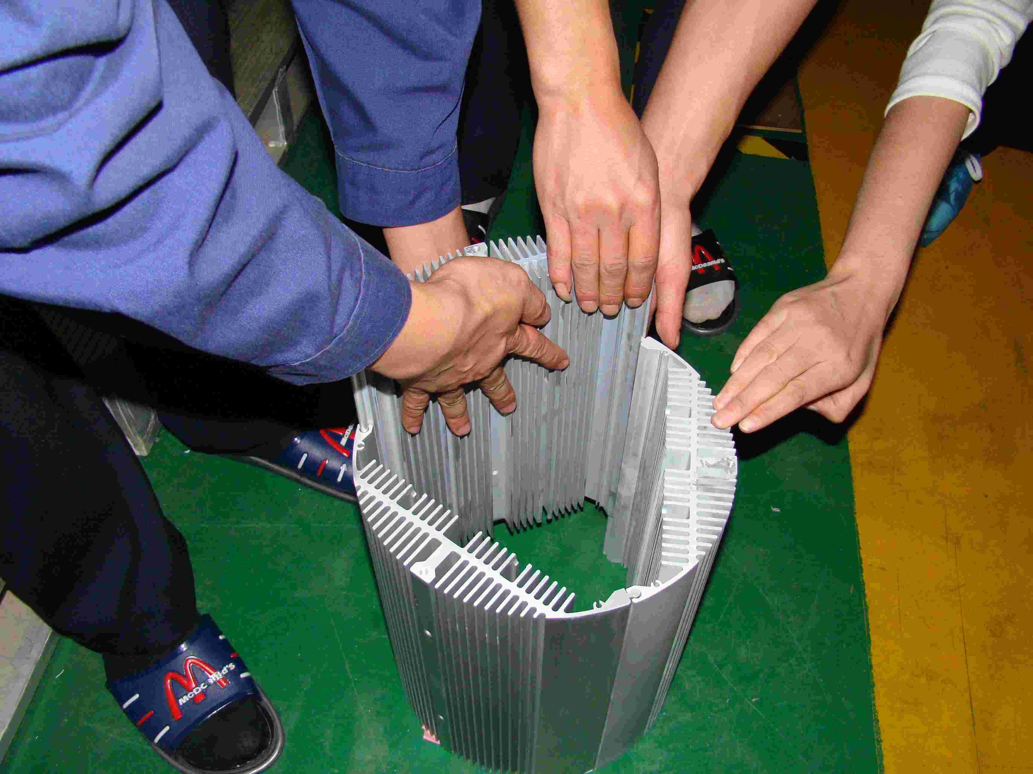 large aluminium extrusion heatsink made in China
